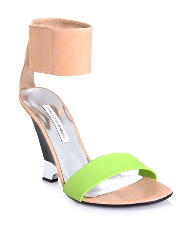 Catch of the Day: DvF color pop wedges