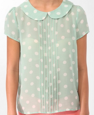 Catch of the Day: pastel polkadot top