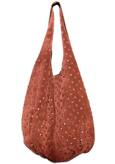 Catch of the Day: suede studded bag