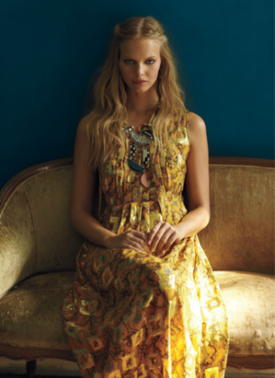 Catch of the Day: retro goldspun paisley dress