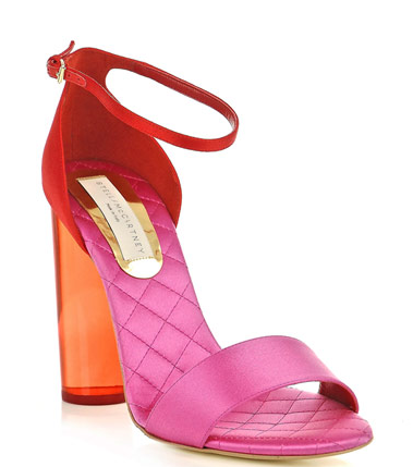 Catch of the day: perspex heel two-tone sandal
