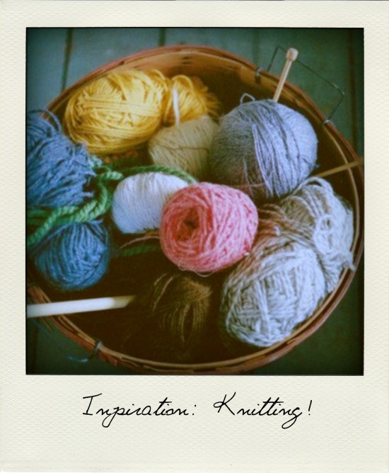 Inspiration by Sanne: Knitting!