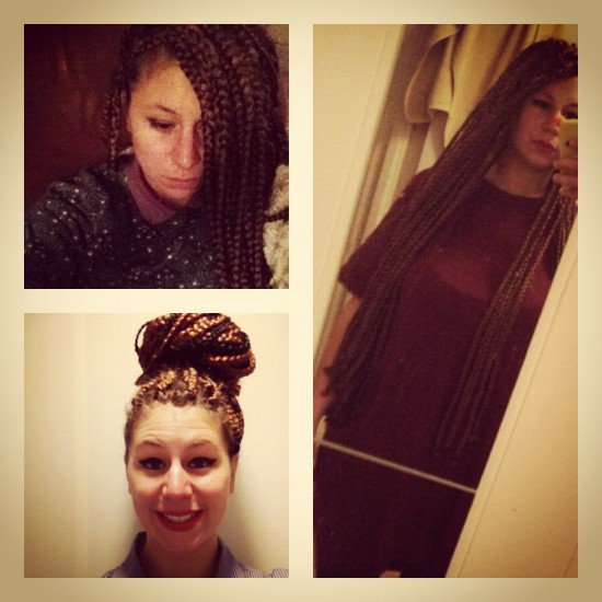 Bombastic braids by Sanne: the result