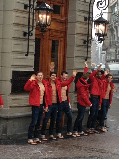 Abercrombie & Fitch models @ Amsterdam