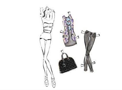 Louis Vuitton paper dolls