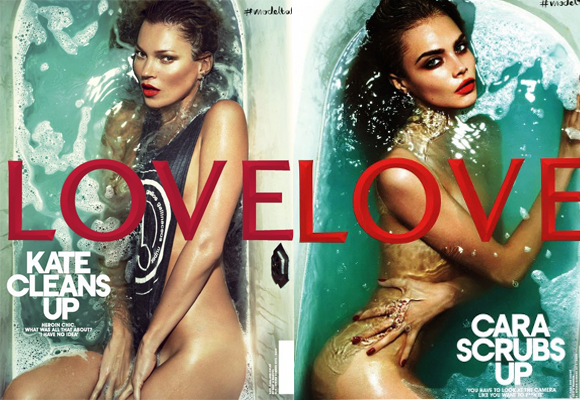 LOVE magazine: Kate or Cara?