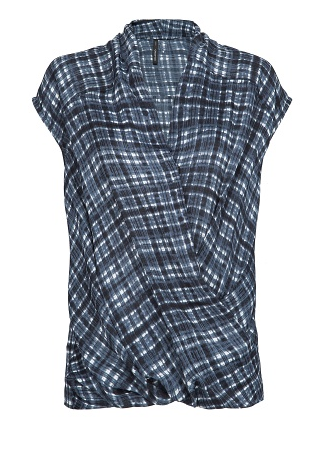 Best Budget Buy: Checked wrap top