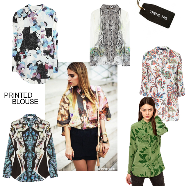 Trend Tag: Printed Blouse