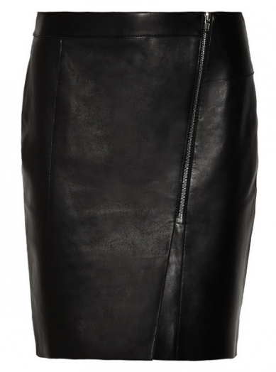 Friday Fashion Envy: zip leather skirt