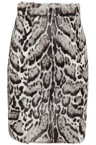 Friday Fashion Envy: Animal print leather skirt