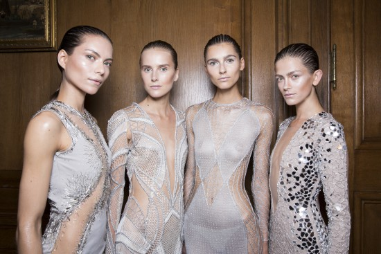 Julien Macdonald SS14, backstage (British Fashion Council)