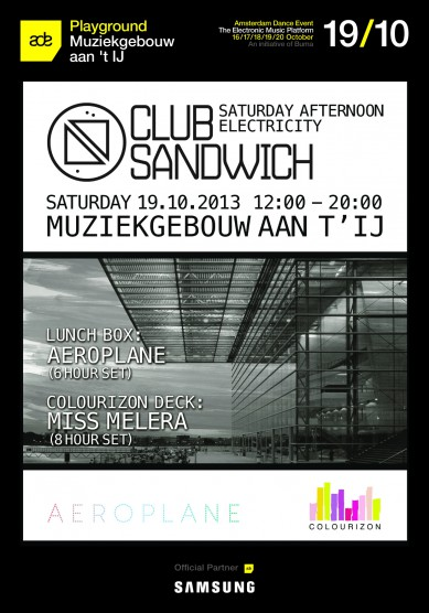 Win: 3X2 tickets for Club Sandwich ADE edition