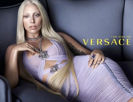 Lady Gaga as a young Donatella Versace