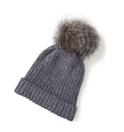 Best Budget Buy: fluffy pom pom beanie