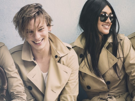 Jamie Campbell Bower and Neelam Johanl behind the scenes on the Burberry Spring_Summer 2014 campaign