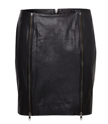 Best Budget Buy: Zipped Leather Skirt
