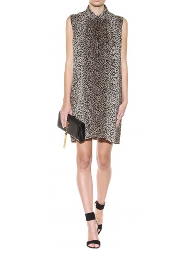 Friday Fashion Envy: Saint Laurent Silk Leopard Dress