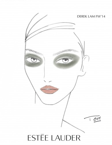 Derek Lam Fall_Winter Fashion Show 2014_Face Chart