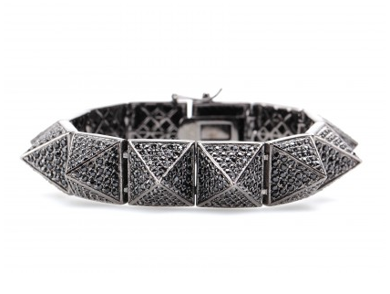 Friday Fashion Envy: Eddie Borgo pavé pyramid bracelet