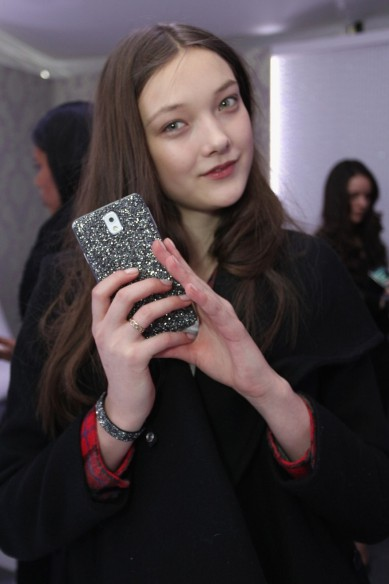 Models with their gadgets