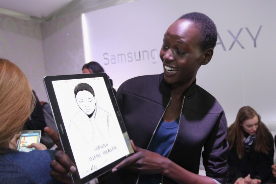 Samsung_Modellen en hun gadgets backstage14 FW NY Fashion Week (19)