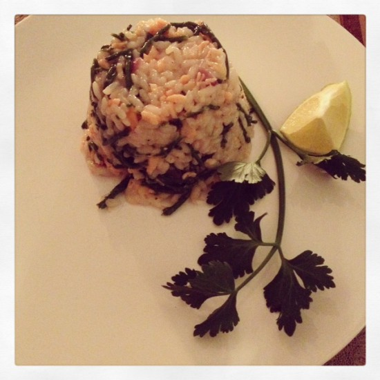 Thursday Treat: Risotto with salmon and salicorn