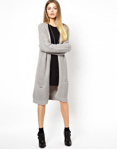 Best Budget Buy: grey longiline cardigan