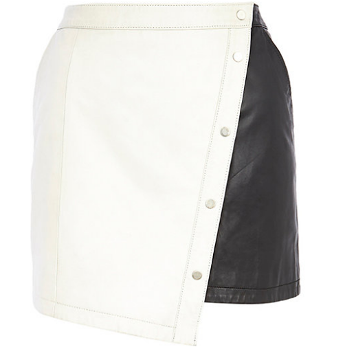 Best Budget Buy: Monochrome Leather Skirt