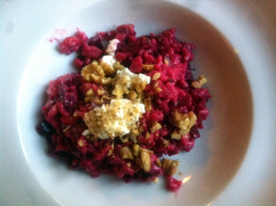 So deliciously Sophie: Beetroot risotto
