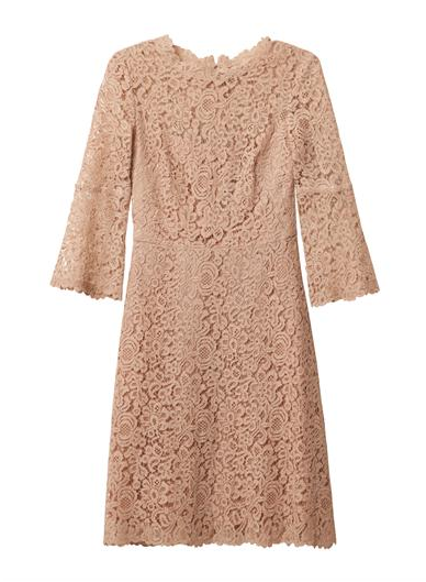 Friday Fashion Envy: Nude Lace Dress