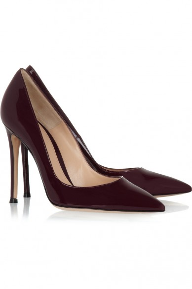 Friday Fashion Envy: Burgundy Gianvito Rossi pumps