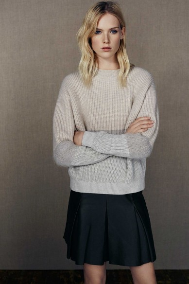 Friday Fashion Envy: AllSaints knit and leather look
