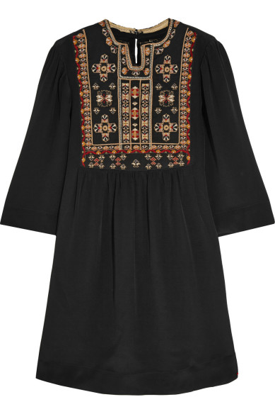 Friday Fashion Envy: Embroidered silk mini dress by Isabel Marant