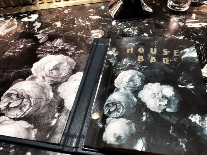 House Bar_menu